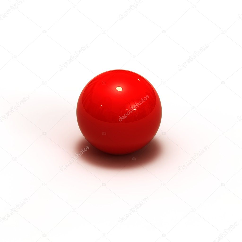 3d red sphere — Stock Photo #1338043