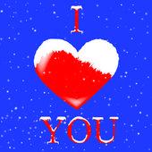 Ich liebe dich herz — Stockfoto