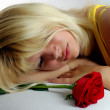 Stock Photo: Girl and Rose