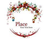 Christmas Wreaths — Stock Vector