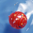 Red xmas balls — Stock Photo