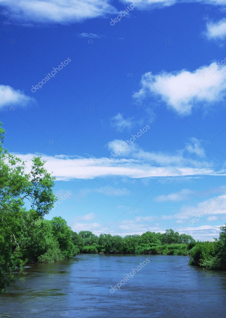 beautiful landscape under blue sky — Stock Photo #1381524
