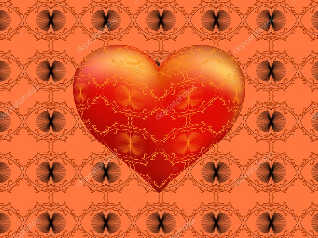 Love in Day Valentine — Imagen vectorial #1350777