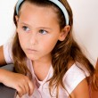 Cute little girl looking side — Stock Photo