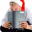 Man hiding behind the book — Stock Photo