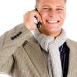 Young professional man receiving a call — Stock Photo #1346806