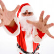 Santa man with open palms — Stock Photo