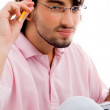 Young college student thinking — Stock Photo