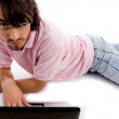 Young man working on laptop — Stock Photo #1347113
