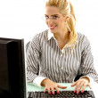 Royalty-Free Stock Photo: Female working on computer