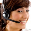 Female customer care executive — Stock Photo #1347798