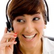 Female customer care executive — Stock Photo #1347802