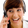 Female customer care executive — Stock Photo #1347804