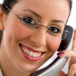 Young female attending call — Stock Photo #1348344