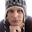 Royalty-Free Stock Photo: Young man wearing winter hat