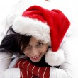 Royalty-Free Stock Photo: Beautiful woman wearing christmas hat