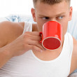 Male enjoying coffee — Stock Photo