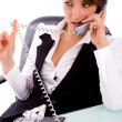 Stock Photo: Service provider communicating on phone