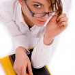 Female student looking at camera — Stock Photo