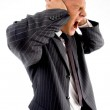 Side pose of yelling businessman — Stock Photo #1349596