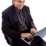 Businessman working on laptop — Stock Photo #1349904