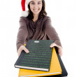 Stock Photo: Teen with her study material