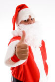 Portrait of santa clause with thumbs up — Stock Photo