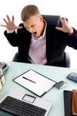 Frustrated young executive — Stock Photo