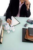 Ceo trying to write something — Stock Photo