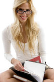 Happy high school student with books — Stock Photo
