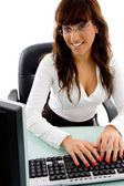 Front view of female working in office — Stock Photo