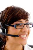 Female customer care executive — Stock Photo