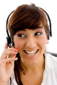 Female customer care executive — Stock Photo