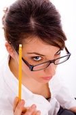 Female student thinking — Stock Photo
