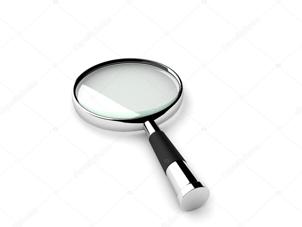 3D isolated magnifying glass — Stock Photo #1349079