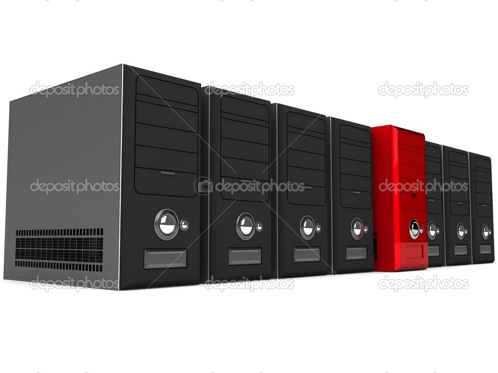 3d rows of cpu on white background — Stock Photo #1349097