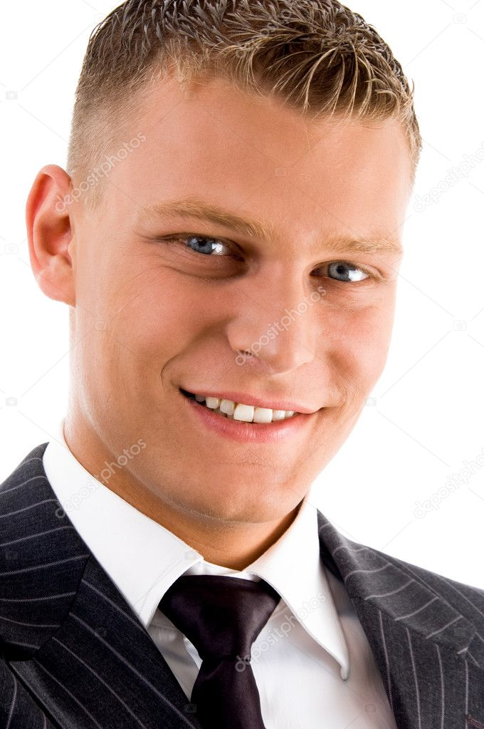 Close up of smiling handsome male on an isolated background — Stock Photo #1349530