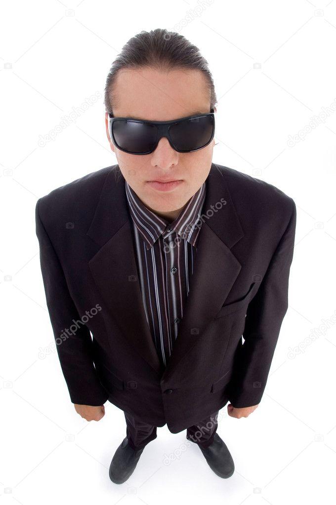 Handsome man wearing dark sunglasses — Stock Photo ...
