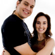 Smiling playful young couple — Stock Photo