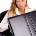 kvinnlig chef få ställa gå till jobbet — Stockfoto #1350219