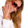 Smiling woman with sunglasses on — Stock Photo