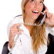 Executive busy on phone — Stock Photo