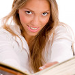 Smiling student with book — Stock Photo #1350336