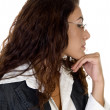 Contemplated businesswoman — Stockfoto