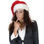 Young charming christmas woman — Stock Photo