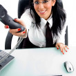 Female executive offering call — Stock Photo #1350983