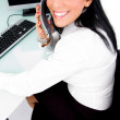 Businesswoman talking on phone — Stock Photo #1350984