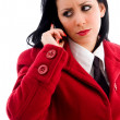 Caucasian model busy on call — Stock Photo #1351245