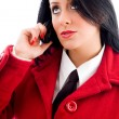 Young woman talking on phone — Stock Photo