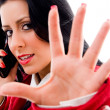Young woman making hand gesture — Stock Photo #1351254